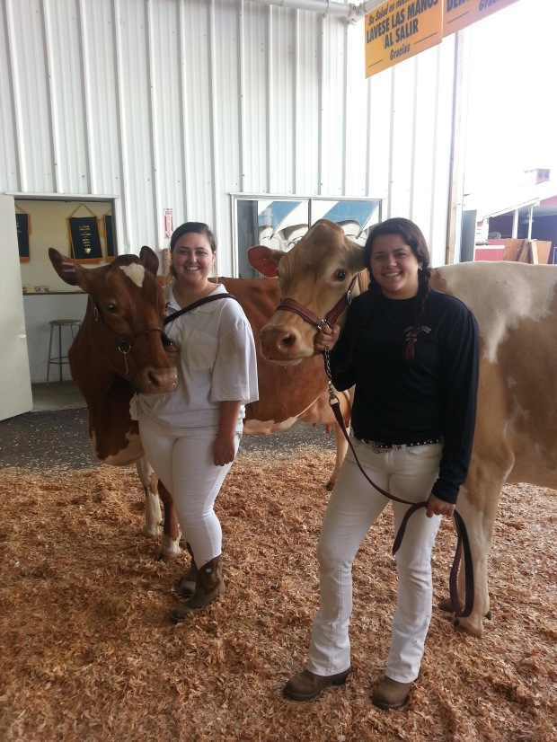 Sisters! Elizabeth and Sarah waiting to get out in the show ring.